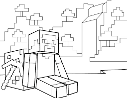 Minecraft Colouring Pages Steve And Alex Coloring Dog Download This