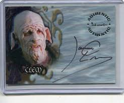 The following characters were featured in the opening credits of the program. James Leary Clem Buffy The Vampire Slayer Autograph