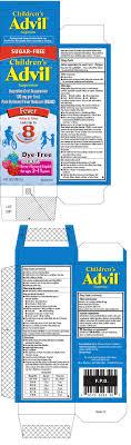 Advil Dosage Chart Childrens Advil Suspension Ibuprofen