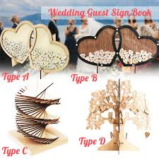 wedding guest book tree wooden hearts rustic visit signature sign book ornaments for wedding party craft