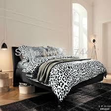 whole black white leopard print bedding set 3d printed duvet quilt bed cover bedsheet bedclothes queen size comforter home textile boy bedding sets cars