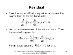 residual take the model diffusion equation and move the source term to the left hand