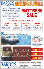 summer furniture sale. BARBO\u0027S SIZZLIN\u0027 SUMMER MATTRESS SALE IS VALID FROM FRIDAY 6/12/15 - SUNDAY 6/28/15 ONLY. ADVERTISED PRICES CAN NOT BE COMBINED TOGETHER, OR WITH OTHER Summer Furniture Sale A