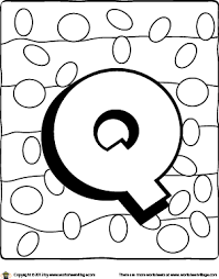 Small Picture Letter Q Coloring Page