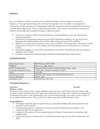 sample resume for business analyst business analyst resume for insurance industry