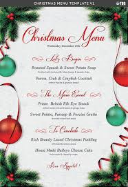 Word Templates Christmas Christmas Menu Template V1 By Thats Design Store Ad Menu