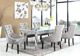 round mirror dining room table mirrored set throughout plan for