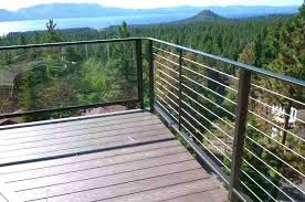steel cable railing. Cable Railing Posts Post To Angled Handrail Close Up Stainless Steel U