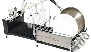 premium stainless collapsible piece looking steel dish drying rack folding polder s wall mount accordion