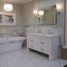 green marble tiles transitional