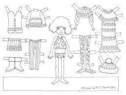 Premium Thanksgiving Paper Doll Coloring Pages 25 Page Soda Fountain