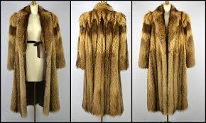 las natural japanese tanuki fur coat s m appraisal included 9500 full length