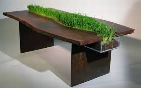 Planter coffee table Knoll Table With Planter Digsdigs Table With Planter Through Its Middle Digsdigs