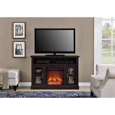 ameriwood home chicago electric fireplace tv console for tvs up to a 50 multiple colors com