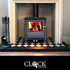 clock wood burning stoves