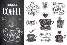 Coffee Quotes Stunning Set Of Coffee Quotes Graphic By Design Work Creative Fabrica