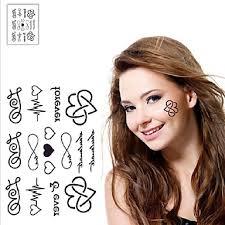 199 1 Pcs Dočasné Tetování Voděodolné Non Toxic Papír Tetovací Nálepky Spodní část Zad Waterproof