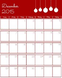 Blank Calendar December 2015 And January 2018 Under