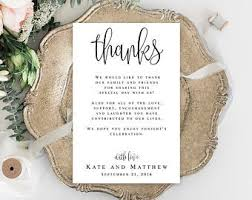 Wedding Thank You Notes Templates Calligraphy Modern Wedding Thank You Letter Template Wedding