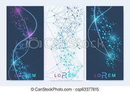 Presentation Flyers Modern Set Of Vector Flyers Banners Geometric Abstract Presentation Molecule And Communication Background For Medicine Science Technology