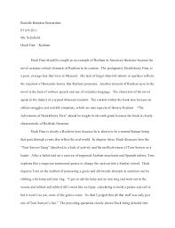 huck finn essay charlie rodolfo brandon bernardinop7 6 9 2011ms schofieldhuck finn realism huck finn should