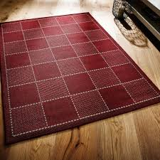 awesome checked red flatweave kitchen rug