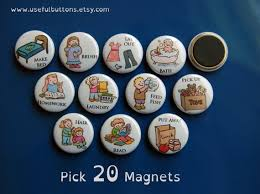 Magnetic Chore Chart Buttons