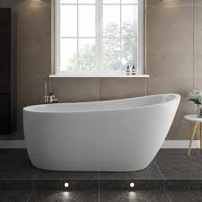 turin 1665 modern slipper free standing bath medium image