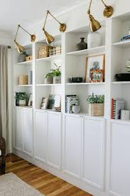 ikea billy bookcase wall of