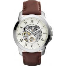 me3052 grant fossil mens watch watches2u fossil me3052 mens grant brown leather strap watch