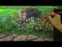 acrylic painting techniques and tutorial for beginners easy and basic lesson in this tutorial you will learn on how to paint some known flowers with a big