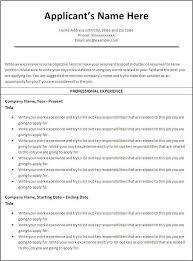 ... chronological-resume-format-download-professional-experience ...