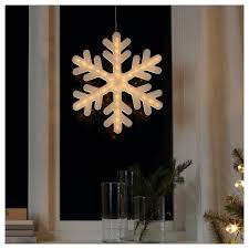 Ikea Strala Light Ikea Strala Battery Operated Snowflake Led Pendant Lamp