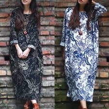 <b>ZANZEA Women</b> Casual Long Sleeve Loose Maxi Dress Plus Size ...