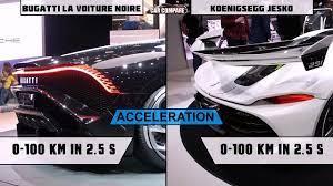 The company has plans to test an unrestricted chiron in search of a 270 mph top speed. Bugatti Vs Koenigsegg Bugattilavoiturenoire Vs Koenigsegg Jesko Video Dailymotion