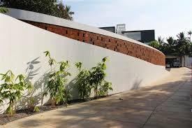 Small Picture House with Privacy Brick Walls