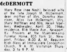 Obituary for Marv McDERMOTT - Newspapers.com