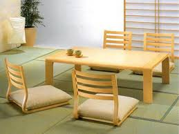 Asian dining room furniture Second Hand Stylish Rectangle Pine Japanese Dining Table With Four Wooden Rail Pertaining To Asian Decor Robert G Swan Stylish Rectangle Pine Japanese Dining Table With Four Wooden Rail
