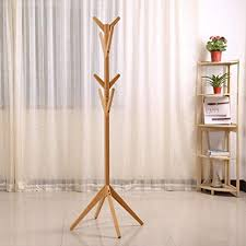 Coat Tree Rack Magnificent Amazon Solid Wood Coat Rack Entryway Hall Tree Coat Tree Rack