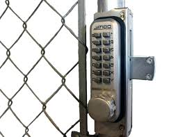 wooden fence gate lock chain link fence gate combination lock design interior home decor wood fence