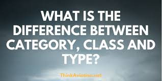 What is the difference between a Category, Class and Type of ...