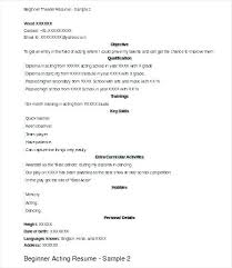 beginner acting resume sample resume template for actors gotostudy info