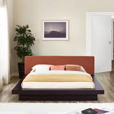 platform bed with nightstand. Nightstand For Platform Bed Awesome Modway 5492 Walnut Queen With Nightstands And Beige Fabric Hb