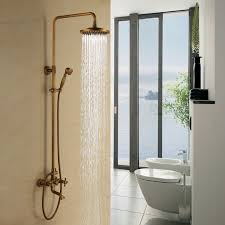 full size of showerheads types of shower heads round gold brass showerhead and handheld shower
