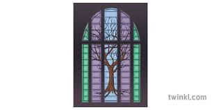 stained glass church jesse tree