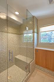frameless shower enclosure with channel