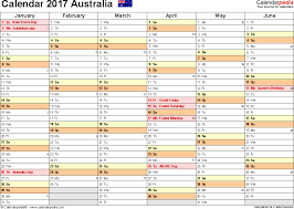 template 4 2017 calendar australia for pdf months horizontally 2 pages landscape
