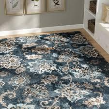 charlton home rus navy blue brown area rug reviews wayfair regarding and plan 4