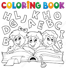 coloring book kids theme 5 eps10 vector ilration stock vector 21571122