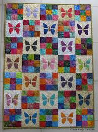 Scrappy Butterfly Baby Quilt Tutorial | FaveQuilts.com &  Adamdwight.com